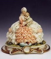 Capodimonte Italian porcelain Figurine - Mother and Child