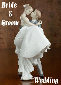 Lladro Bride and Groom Wedding Figurines