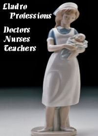 Lladro Doctor Nurse Figurines