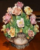 Capodimonte Italian porcelain Flowers
