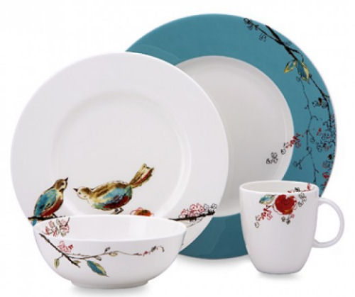 Lenox Chirp Pattern China Dinnerware plates and cups