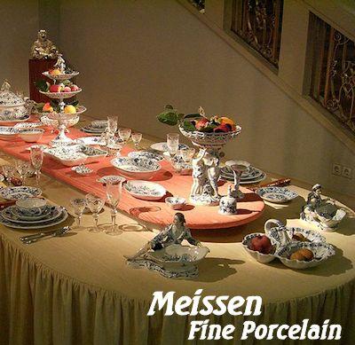 Meissen Fine Porcelain figurines and dinnerware