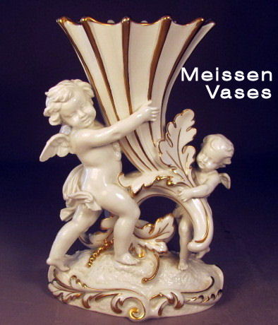 Meissen German Porcelain Vase