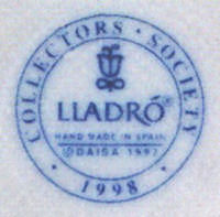 Collector's Lladro Porcelain Mark and Stamp