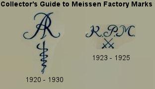 Meissen porcelain factory marks