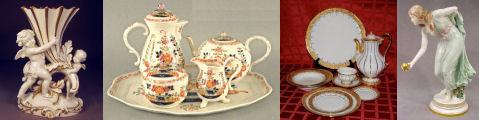 Meissen porcelain figurines Plates vases tableware