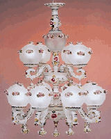 Capodimonte Italian porcelain Chandeliers