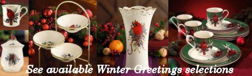 Lenox china winter greetings dinnerware pattern ebay prices