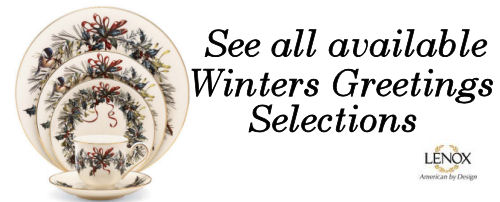 lenox winter greetings dinnerware buy image