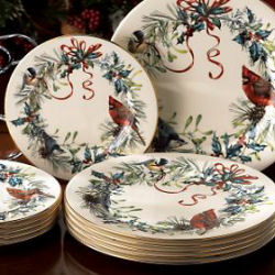Lenox china winter greeting dinnerware pattern