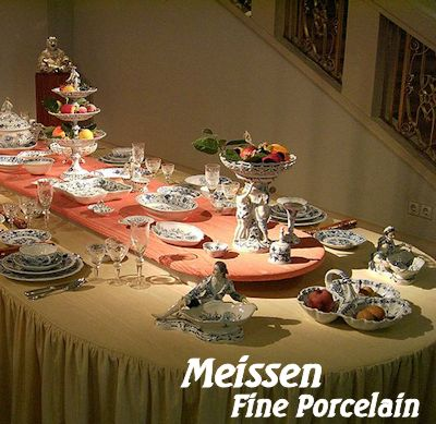 Meissen Fine Porcelain figurines and dinnerware