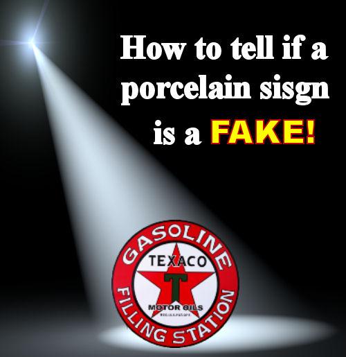 Fake Porcelain Sign in Spotlight