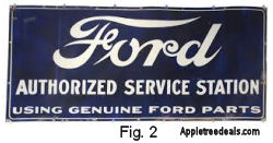Old Porcelain Ford Service Station Sign