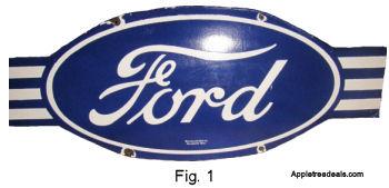 Old Porcelain Ford Sign