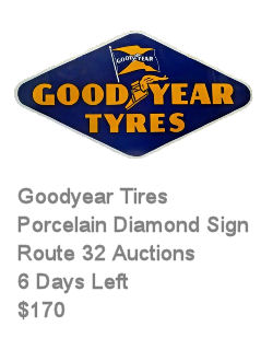 Goodyear Tyres Diamond Porcelain Sign