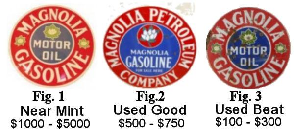 Round Magnolia Oil Porcelain Enamel Signs