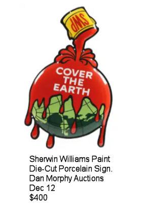 Sherwin Williams Die-cut Porcelain Sign